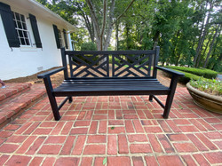Smith and Hawken Iron Bench