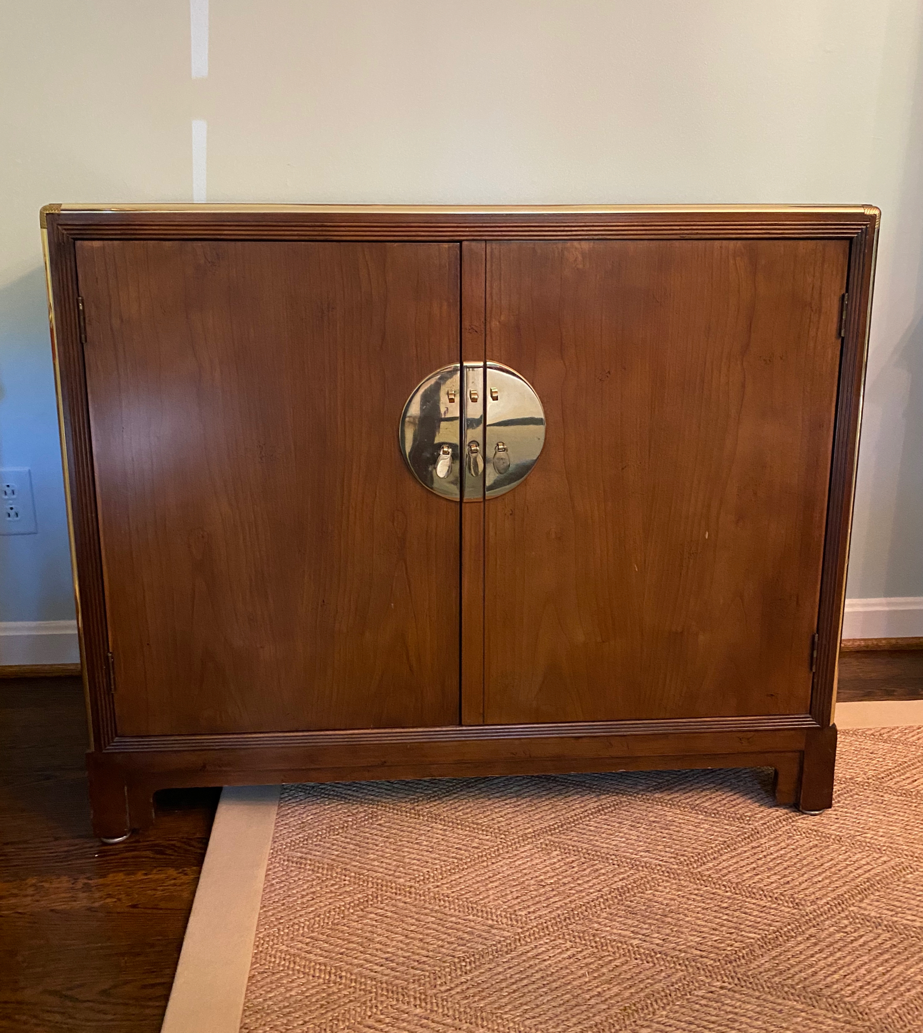 Baker Cabinet with Brass Trim