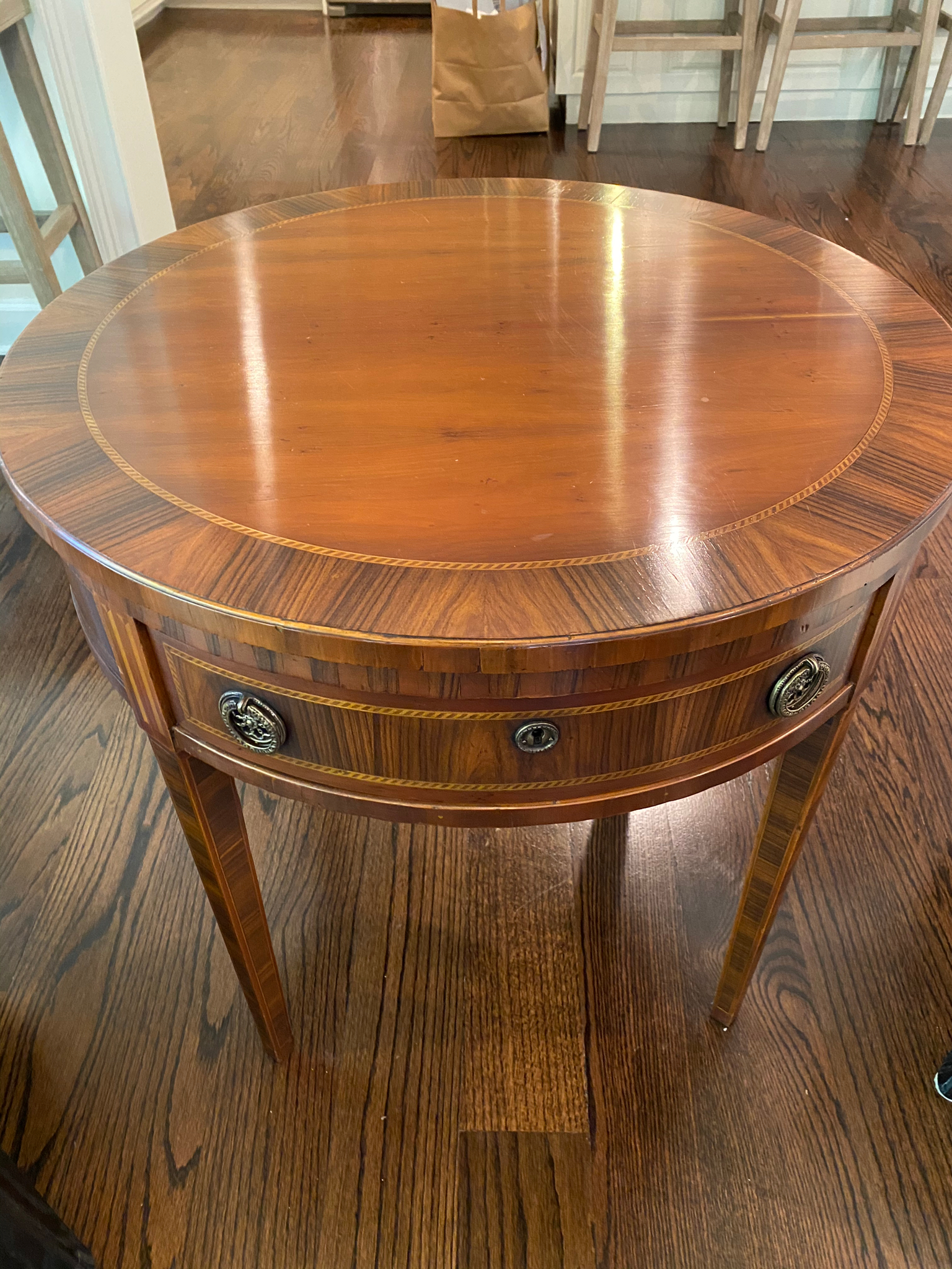 SOLD: Banded End Table
