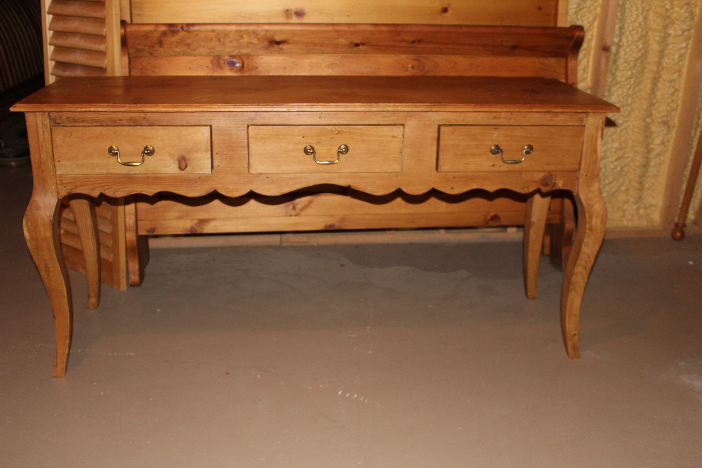 French Pine Console Table