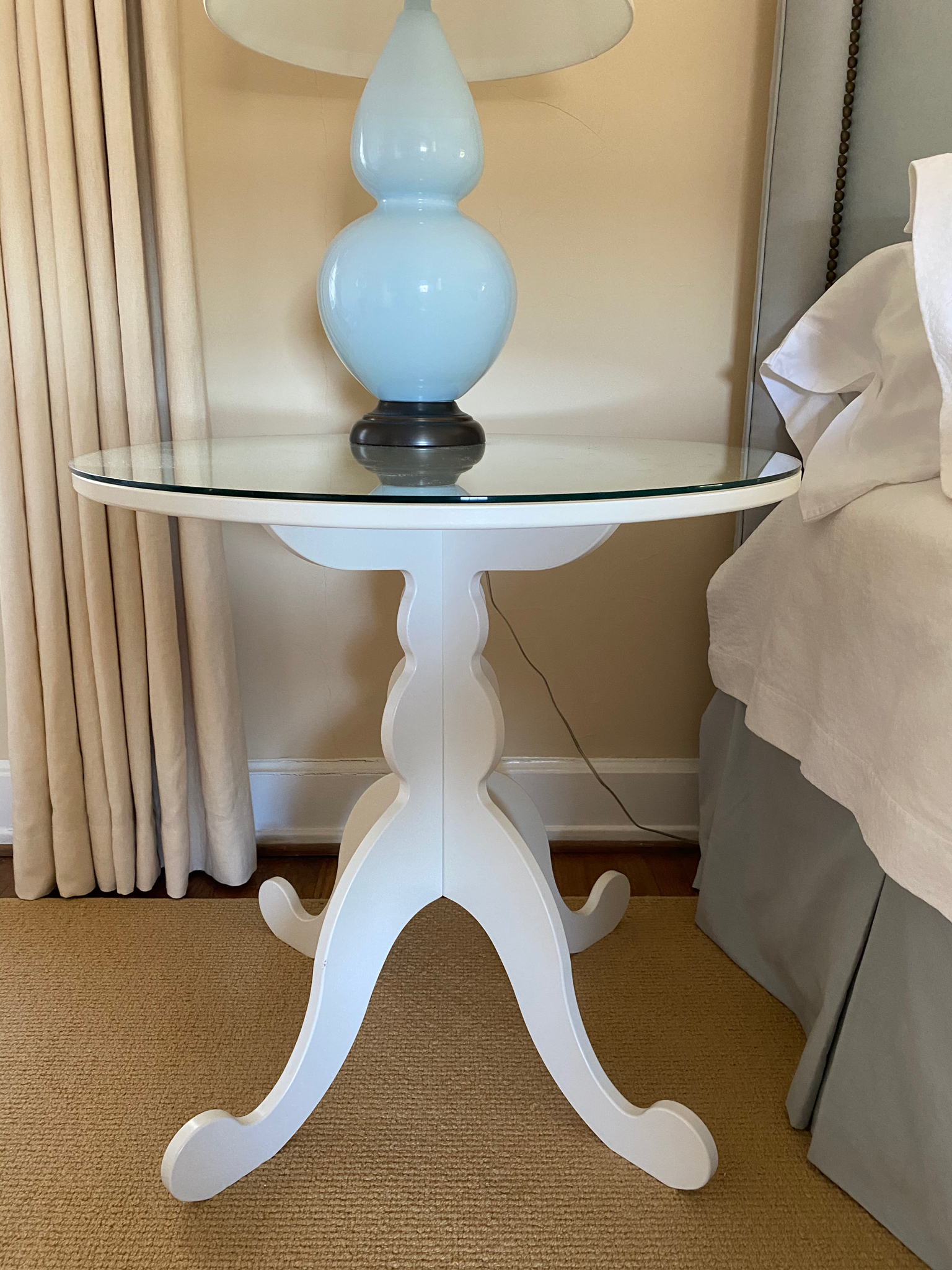 Pair of Pedestal End Tables