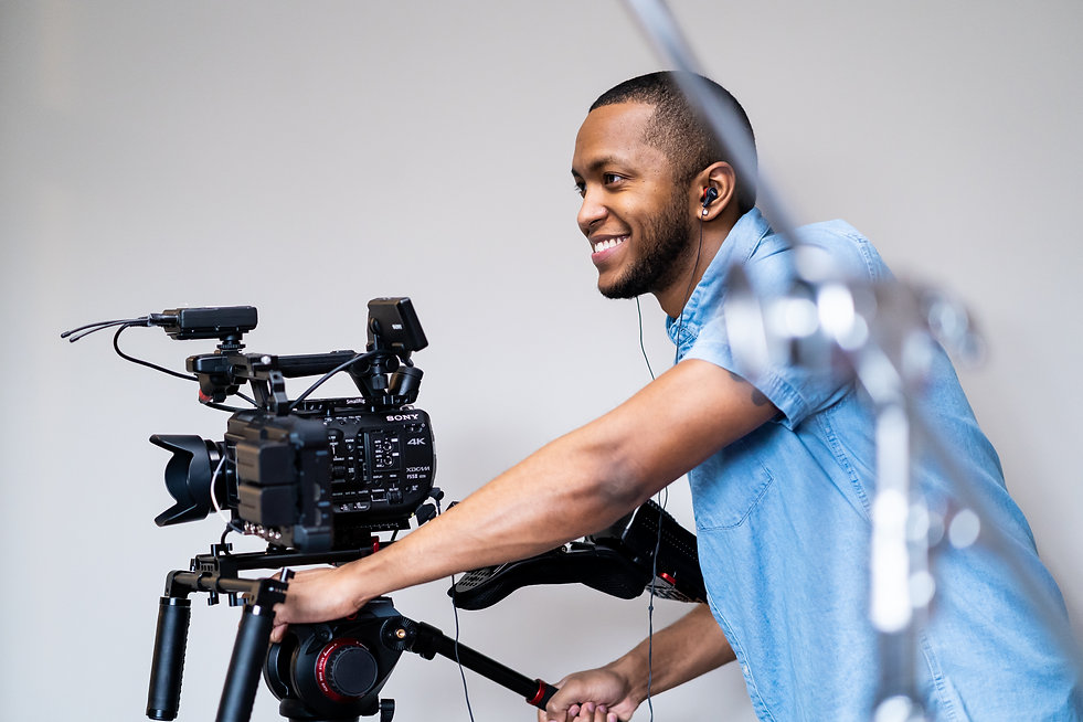 Kevin Kneeland operating Sony FS5 MII video production