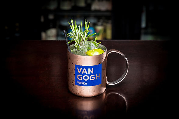 Van Gogh Vodka product photography at Five Roses Pub in Rosemont IL