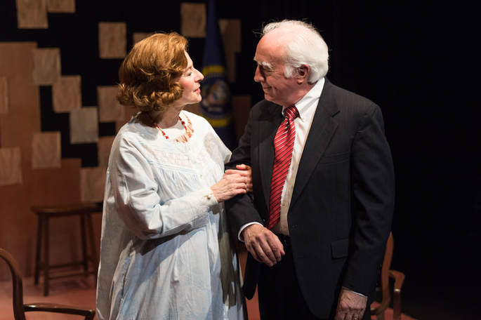 Betty and Jerry Ford as played by Paula