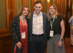 Gabriela Tolchinsky (TCC), Santiago Bilinkis y Virginia Dedomenici (Supervielle).