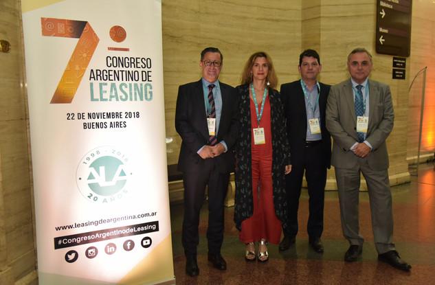 Henán Bernat (HSBC), Gabriela Tolchinsky (TCC), Ariel Jaluf (Santander Río) y Santiago Gallichio (Provincia Leasing).