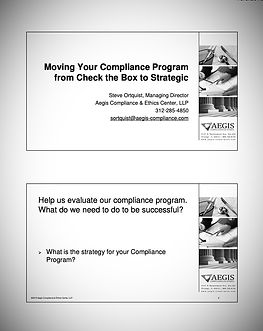 Moving Your Compliance Program from Chec