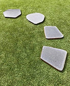 Natural Bluestone limestone Stepping Stones Landscape Paving Garden Melbourne Victoria