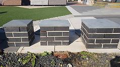 Brick Pier cap natural basalt