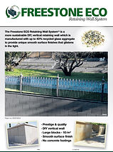 Island Block Sustainable Eco Friendly Retaining Walls Freestone Melbourne Victoria