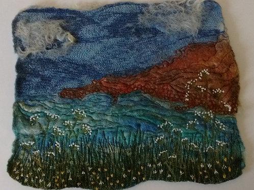 Felted Dartmoor Postcard with Tracey Bartlett of Felt Sew Somerset