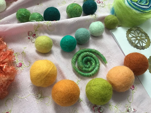 Felted Beads and Buttons with Sherrill Olive