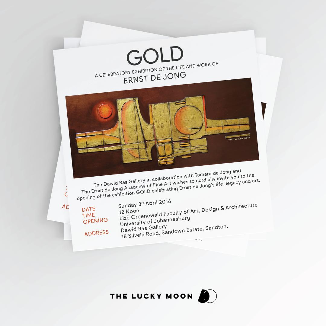 Gold Exhibition Digital Invite