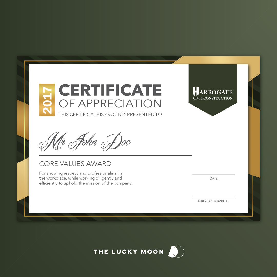Harrogate Certificate