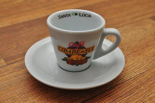 Kit 4 Xícaras de Café Cidade do Sul