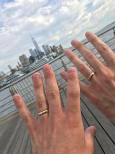 Eric and Matt Engagement Rings Dad Rings