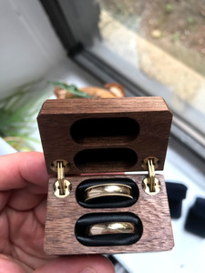 Double Ring Box Same Sex Engagement