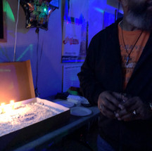 Walter the birthday boy at Zig's bar