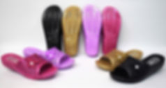 Colourful flower decorated slippers for the modern Singaporean women. These slippers are well loved by Singaporean women of all ages. Scale Footwear Enterprise Pte Ltd is the importer, supplier, wholesaler and exporter of these slippers in Singapore.
