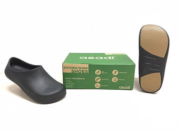 Kitchen Safety Shoes that are non slip and worn in kitchen. Kitchen Clogs that are more durable than crocs kitchen clogs.