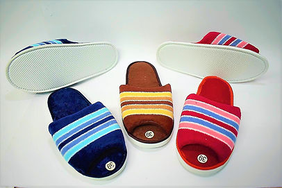 Colourful rainbow decorated bedroom slippers for the modern Singaporean women. These slippers are well loved by Singaporean women of all ages, especially the elderly. Scale Footwear Enterprise Pte Ltd is the importer, supplier, wholesaler and exporter of these bedroom slippers in Singapore.