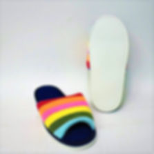 Rainbow decorated bedroom slippers for the modern Singaporean women. These slippers are well loved by Singaporean women, especially the elderly. Scale Footwear Enterprise Pte Ltd is the importer, supplier, wholesaler and exporter of these bedroom slippers in Singapore.