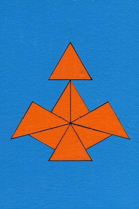 Головоломка Геометрия в ладошках Треугольники от 4х лет Оксва