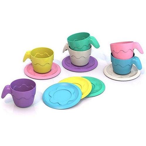 Игровой набор посуды 6 чашек 6 блюдец Шкода