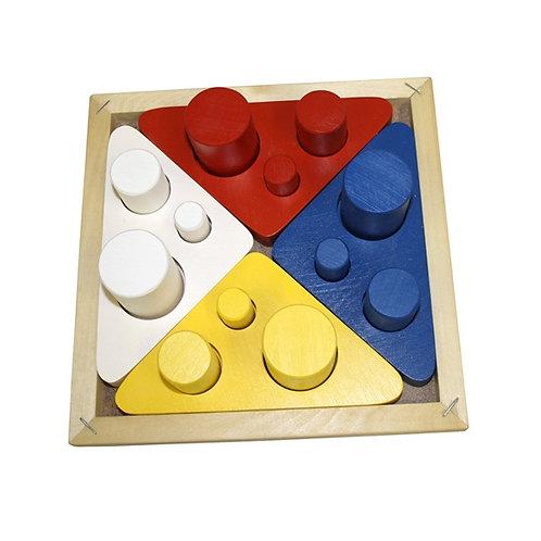 Дидактическое пособие Цилиндры втыкалки (цвет, размер, диаметр) RNToys