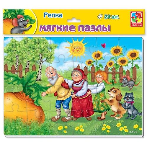 Пазл мягкий Сказки Репка 24 дет Vladi Toys