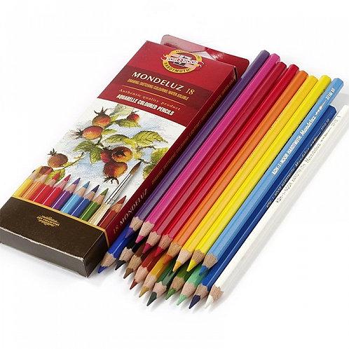 Карандаши цветные 18 акварельные Koh-i-noor