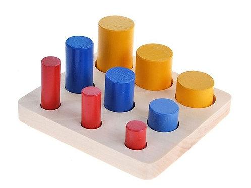 Дидактическое пособие Цилиндры втыкалки 3 ряда диаметр RNToys