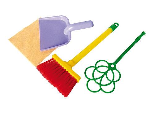 Игровой набор Золушка №1 (щетка, совок, выбивалка, салфетка) Совтехстром
