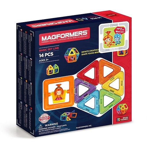 Магнитный конструктор 14 деталей Magformers