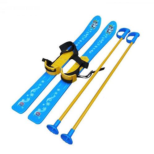 Лыжи пластиковые с палками