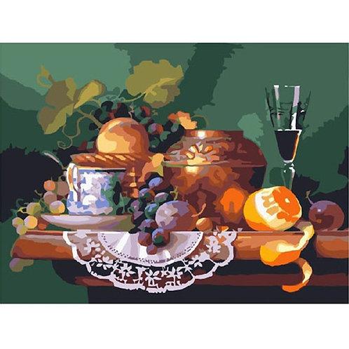 Картина по номерам Завтрак поэта 24 краски Molly