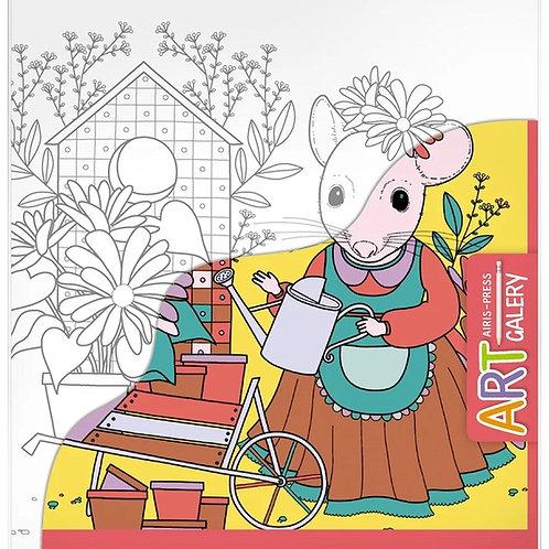 Основа для творчества малая Мышка в саду Айрис