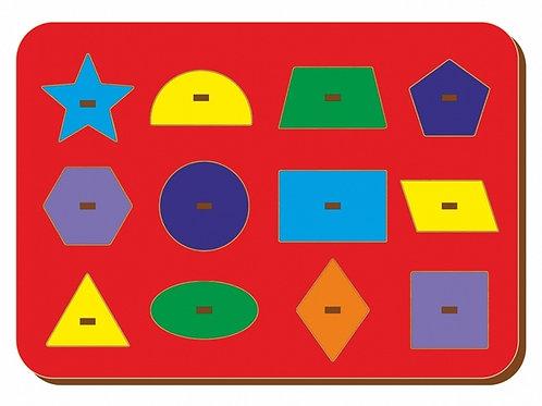 Рамка-вкладыш WOODLAND Монтессори геометрия 3