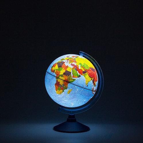 Глобус Физико-политический (на батарейках) Globen