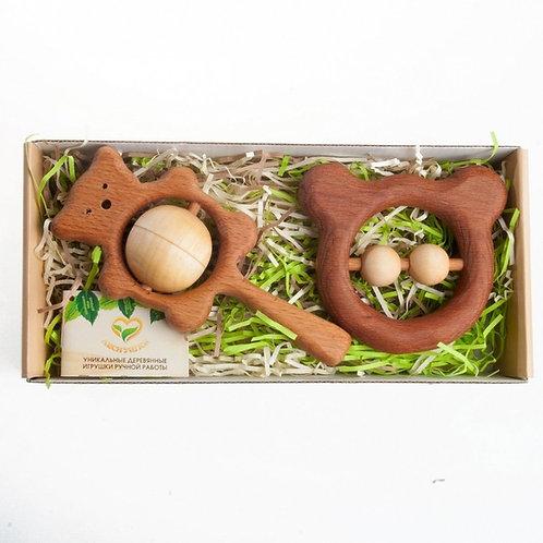 Подарочный набор погремушек, грызунков Братец-медвежонок Леснушки