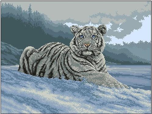 Картина мозаикой В снегу Molly