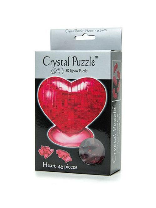 Головоломка Сердце красное Crystal Puzzle