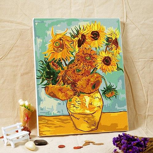 Картина по номерам Ван Гог Подсолнухи Molly