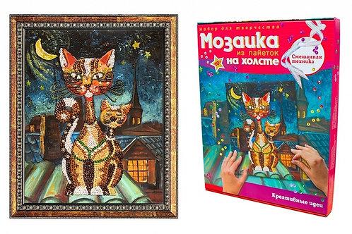 Мозаика ВОЛШЕБНАЯ МАСТЕРСКАЯ МХ-02 Кошки (холст)