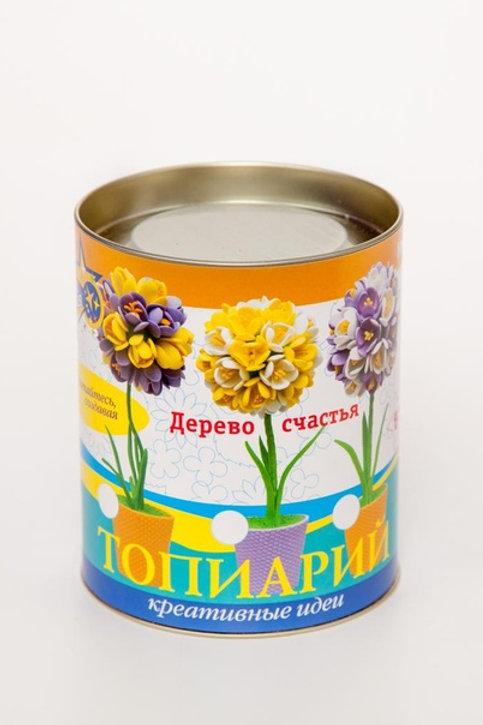Набор для творчества ВОЛШЕБНАЯ МАСТЕРСКАЯ Топиарий Крокусы желтый/белый