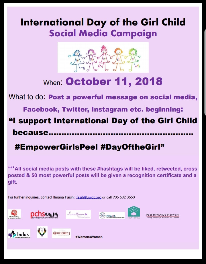 International Day of the Girl Child - Social Media Campaign
