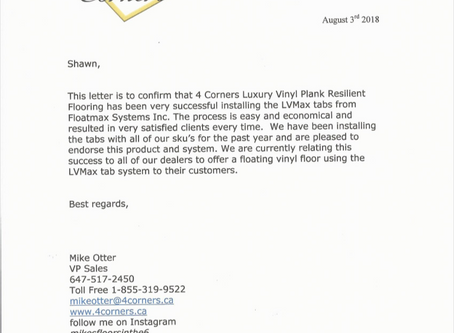 4 Corners Endorsement Letter