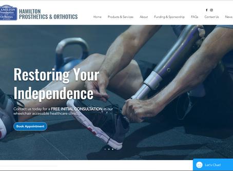 The New Hamilton Prosthetics Website Launch