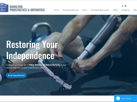The New Hamilton Prosthetics Website Launch