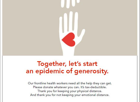 Together, Let's Start an Epidemic of Generosity